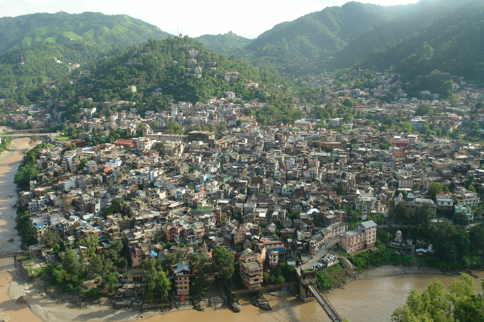 View of mandi Town